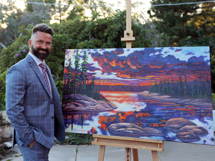 Canadian landscape painter Landon Peters